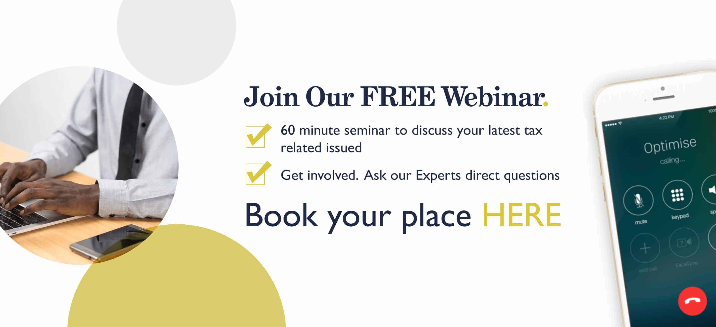 Join our FREE tax webinar